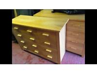 Pair of large chest of drawers