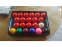 Set of snooker balls