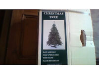 5 foot John Lewis artificial Christmas tree, 2 sets of decorations and new sealed framed picture