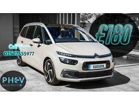 PCO Rental / PCO Hire / Uber XL / 7 Seater / Citroen C4 Grand Picasso / ULEZ Exempt / Private Hire