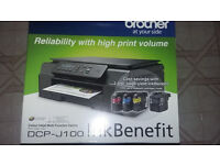 BROTHER DCP-J100 3 IN 1 PRINTER SCANNER COPIER 6 MONTHS OLD USED TWICE