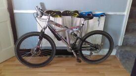 Crosswind dual suspension mountain bike