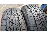 215 65 16 2 x tyres DUNLOP ST20 Grandtek
