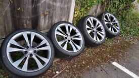 Geniune 20 inch Vauxhall Insignia wheels with tyres