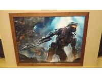 Halo master chief framed picture for sale