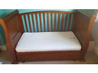 Sleigh cot bed with under bed storage in excellent conditon