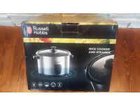 Russel Hobbs rice cooker and steamer as new condition