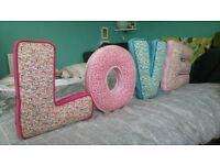 "Handmade ""LOVE"" Decorative Cushions"