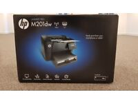 HP Laserjet Pro M201DW Wi-Fi Laser Printer ( With box, USB cable, driver software)