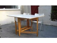 Great folding Ikea table & 4 chairs. Good condition. Perfect for a small space.