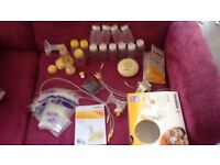 Medela breast pump, with extras *made double