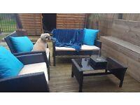 4 Piece Rattan Furniture Set
