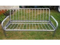 Metal frame sofa-bed with mattress - £55.00