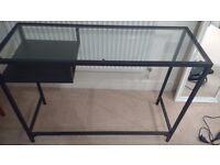 IKEA glass desk, excellent condition.