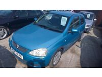 vauxhall corsa design 2003-53-reg,1000 cc , group 1 insurance New mot upon purchase ,105,000 MILES