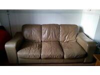 3 Seater Sofa + 2 Seater Sofa + Pouffe £100