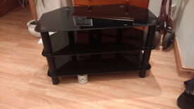2 x TV Stands ( Stand ) Black For Sale, Also Toshiba DVD Player