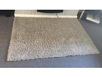Grey thick rug 120x170