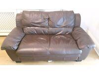 URGENT 2 Seater Sofa Dark Brown