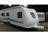 2010 hobby 650 prestige fixed bed twin axle 5 berth with motor mover vgc