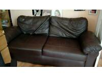 Brown leather sofa free
