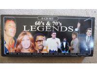 60's & 70's Legends 6 CD set. Musicbank Ltd.