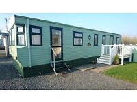 LOVELY STATIC CARAVAN & DECK FOR SALE, MORECAMBE BAY, 12MTH PET FRIENDLY HOLIDAY PARK. 3 BEDS, DG/CH