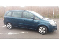 2007(07)VAUXHALL ZAFIRA 1.6 CLUB MET BLUE,7 SEATER,GOOD RUNNER,SPARES OR REPAIRS