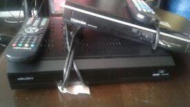 toshiba dvd player plus bush freeview plus recorder player