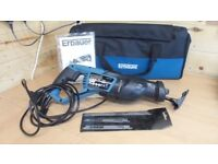 ERBAUER RECIPROCATING SAW + BAG + 3 BLADE PK. Used for only 30 mins