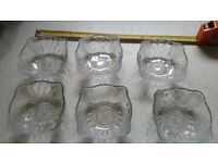6 Glass Bowls