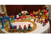 Mega Bloks, train, farm and town sets