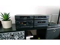Technics SC-CH7 HiFi system in very good condition and working order, perfect sound+speakers+stands