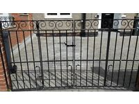Bi-Fold Wrought Iron Drive Gates