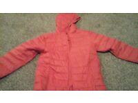 Girls pink coat aged 9-10