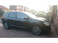 Nissan Qashqai plus 2 Black, Panoramic roof 7 seater Sat nav Reversing camera FSH