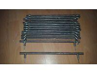 15 chrome finish kitchen unit handles