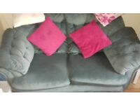 Light Green 2 x 2 Seater Sofa and 1 Seater Sofa