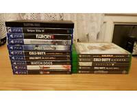 Xbox one games and ps4 games