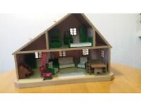 Sylvanian Families vintage Large House with furniture