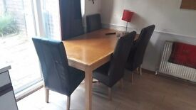 Dinning Table with 5 chairs