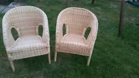 Kids wicker chairs