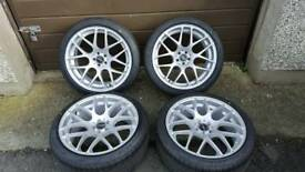 "19"" 5x100 vmr alloys - 4 brand new zeta tyres"