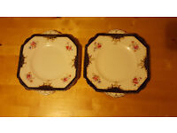 Set of 2 lovely elegant serving plates by E.B.L . Absolute bargain, Only £2!