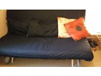 IKEA denim Sofa Bed. Condition as new.