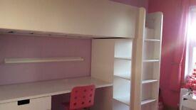 IKEA STUVA LOFT BED (COMPLETE WITH IKEA MALVIK MATTRESS)