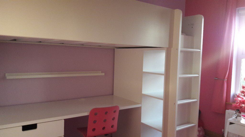 IKEA STUVA LOFT BED (COMPLETE WITH IKEA MALVIK MATTRESS) | in Broughshane, County Antrim | Gumtree