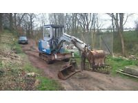 kubota kh51 3 tonne mini digger for sale with attachments