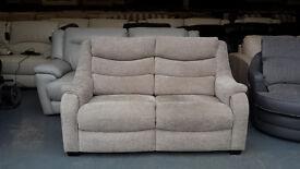 Ex-display Denver mink fabric 2 seater sofa