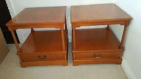 Various Pieces of Yew Veneer Strongbow Living Room Furniture